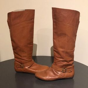 Brown Leather Chinese Laundry Newbie Boots